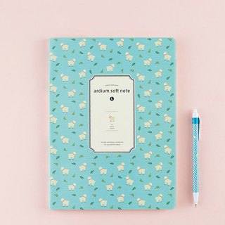 ARDIUM silky notebook (big) - Mint sheep