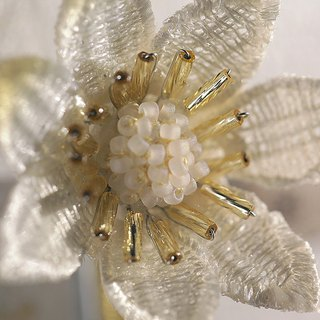 Couture / Elegant White Brooch