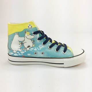 Moomin Moomin authorized - canvas shoes (yellow shoes Navy blue / women's shoes limited) -AE10