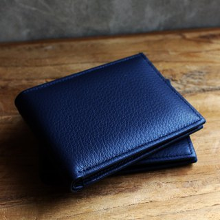 Wallet - Bifold - Blue (Genuine Cow Leather) / Small Wallet  / 钱包 / 皮包