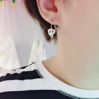 Desolation Ice Transparent Stone Earrings
