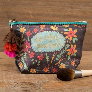 Wool fringe canvas cosmetic bag - Do what you love|BAG243