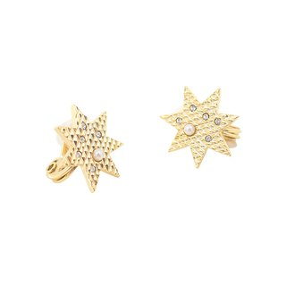 JewCas Brillante Star Earrings (Air Ear Clips)-JC2786