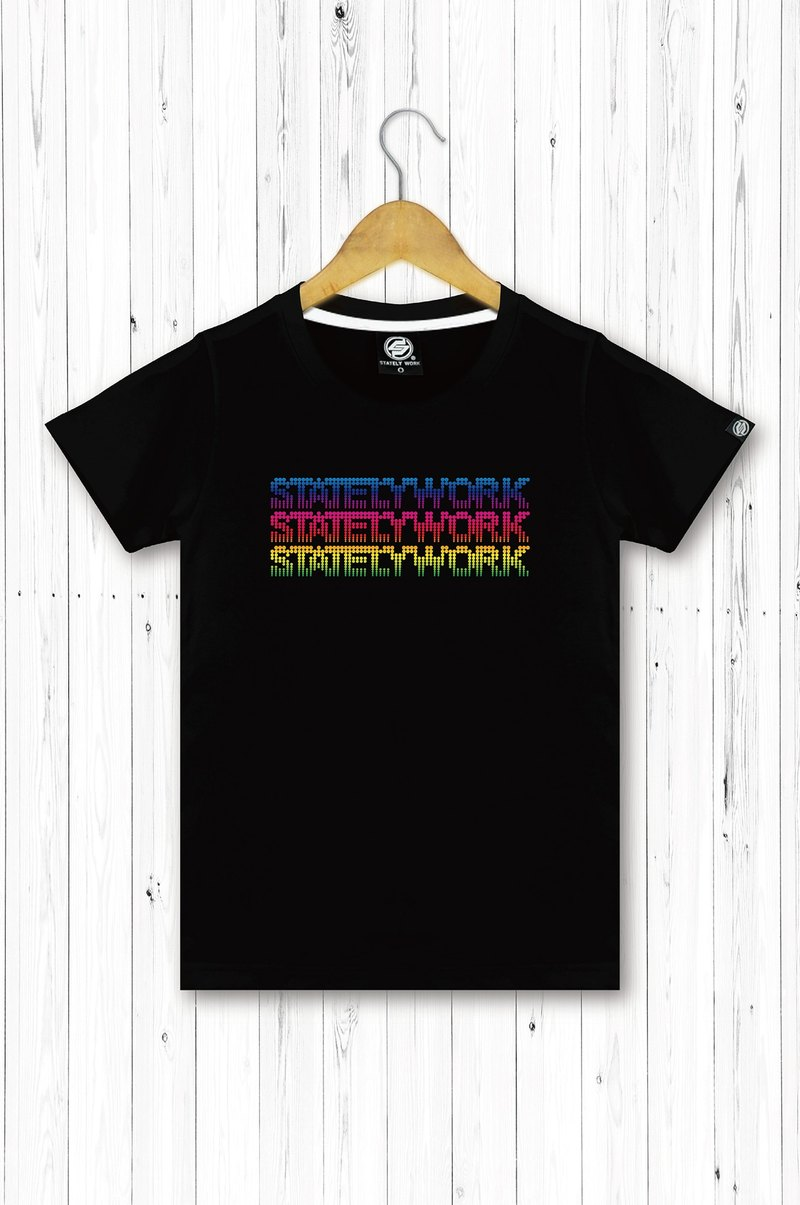 statelywork color dot text T-female T-shirt