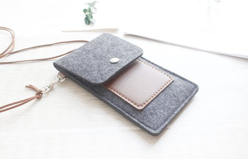 【Can be customized】 original pure handmade dark gray blankets Apple iphone 6 / iphone 6 / iphone 8 / iphone 8 plus / - 061