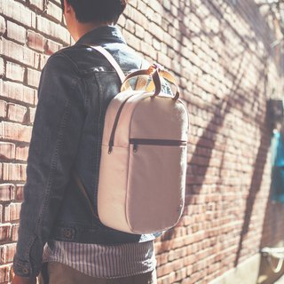Canvas rounded back backpack