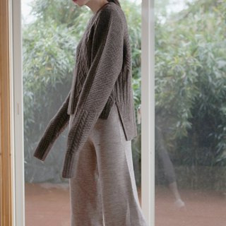 KOOW Chocolat soft and smooth ox wool sweater special tailored twisted sweater