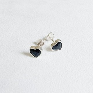 Heart-shaped/Earrings/Swarovski Crystal/Sterling Silver/By hand【ZHÀO】SZE1645