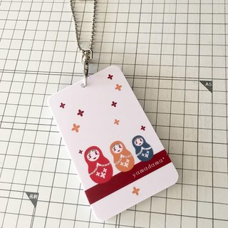 Matryoshka pattern pass case