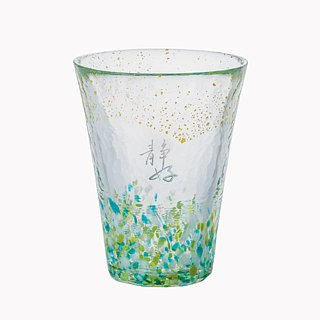 300cc [US word meditation. Japan Hand Cup '(mint green) imported from Japan calligraphy word US Jin Jin Qing Qing handmade cup び い ro Tatari nn bu ra-do custom name