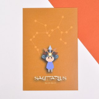 The 12 constellations character birthday card and postcard - Sagittarius