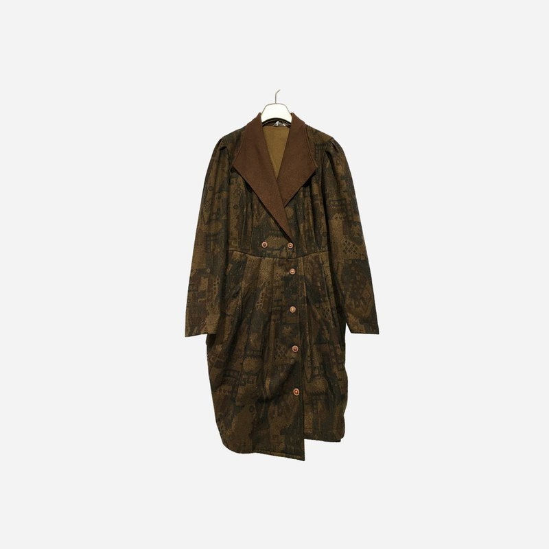 Dislocated vintage / lapel long coat no.1261 vintage