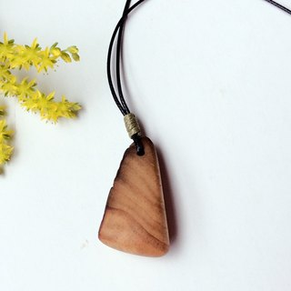 No cows are OK! Burdock wood necklace
