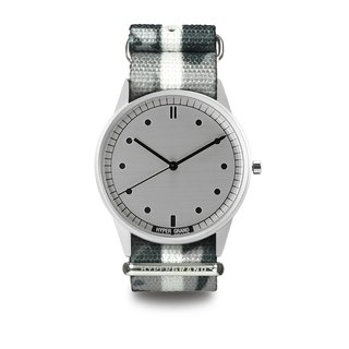 HYPERGRAND - 01 Basic Series - FROSTBITE CAMO Abstract Grey Camouflage Watch (Silver Dial)