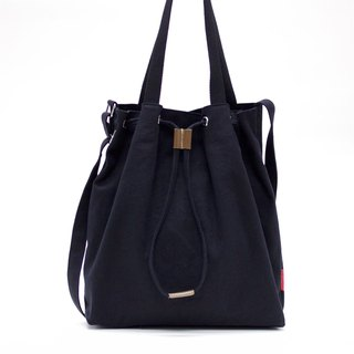2 Ways Canvas Tote / Black