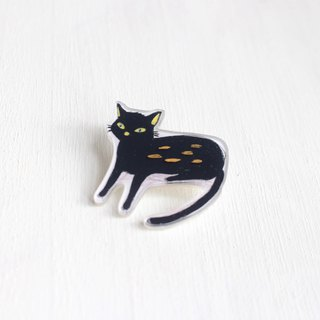 Spoiled Black Cat small badge / pin I Cat Lover