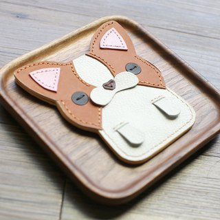 Sincerely Chihuahua handmade leather ID card / leisure card / ID card holder