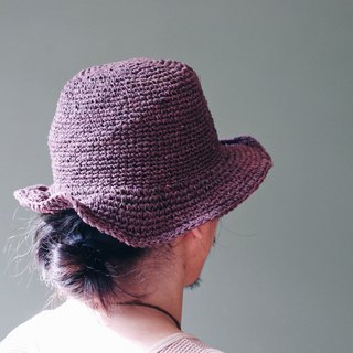 OMAKE Select Hemp Braided Cap Hat Wire Cap Red Brown