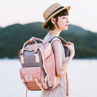 Doughnut Waterproof Macaron Backpack - Strawberry Puffs
