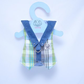 Among_dog harness_Plaid suit Greenery Detective(small size)