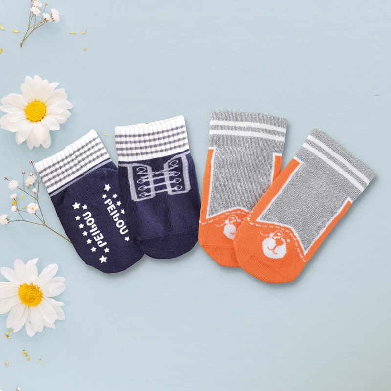 78% US SUPIMA Sneakers Baby Socks 2 Each 1 Double Miyue Safety Slips Wide Socks