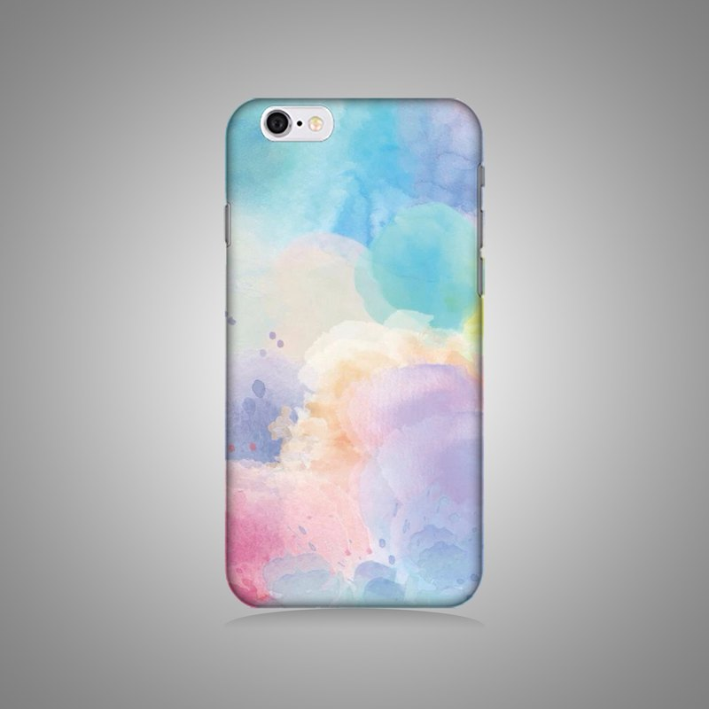 Empty shell series - Colorful watercolor original mobile phone case / protective cover (hard shell)