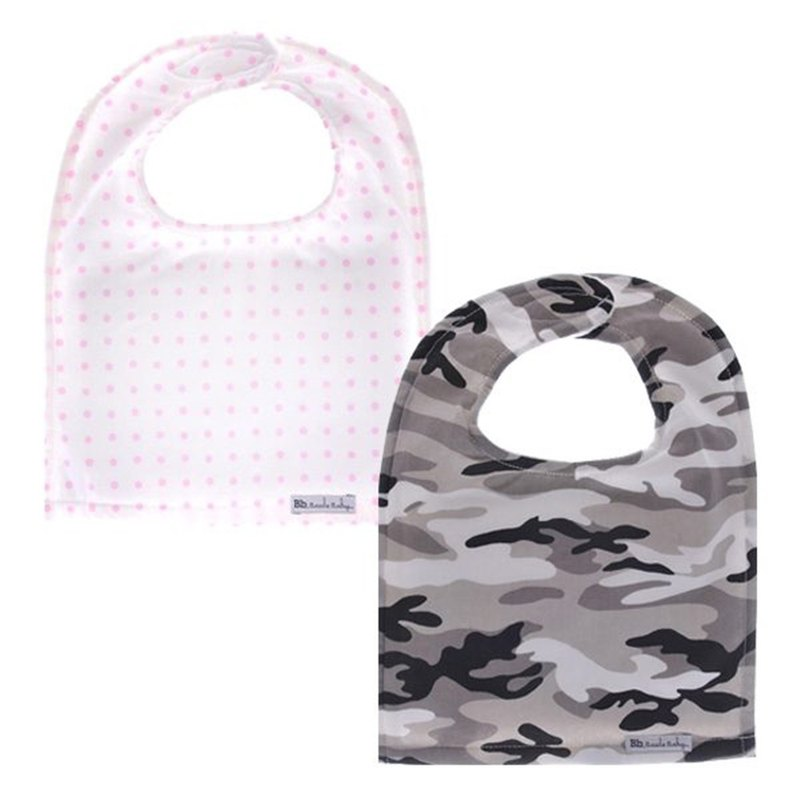 Cotton fashion big bib Sweet Pea+Urban Camo (2 in)