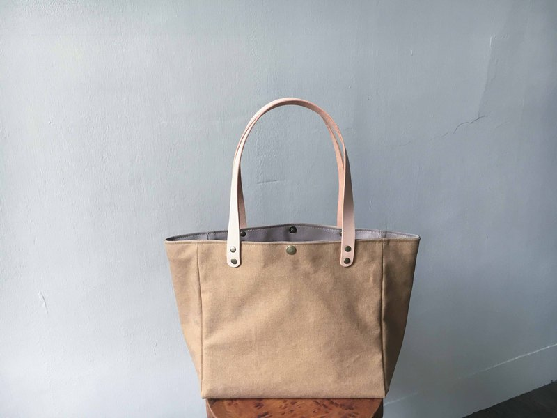 Simple side bag, horizontal type, washed soil yellow