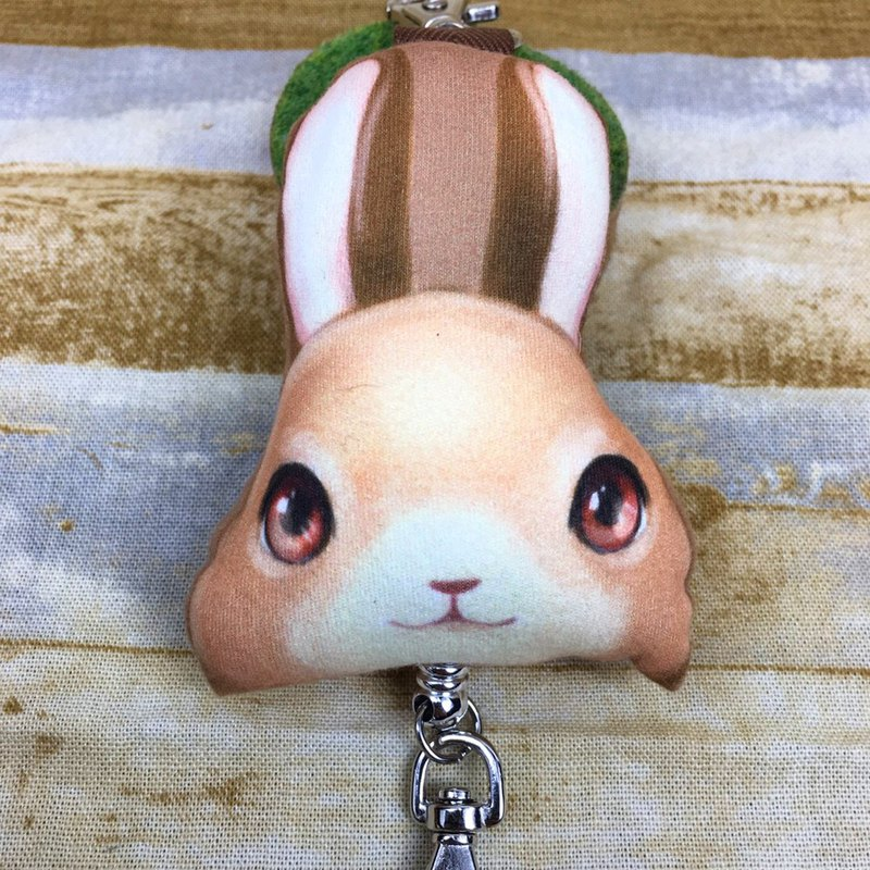 Chocolate rabbit wipes the doll telescopic buckle
