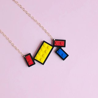 Mondrian necklace Lego combination