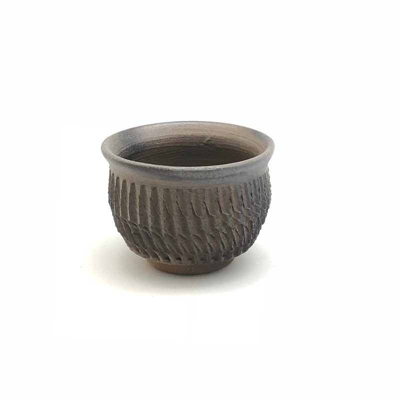 Hand made printed wood fired small cup / random shipment