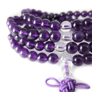 READ Dazzling 相相相惜 | Hand made amethyst white crystal 108 hand beads