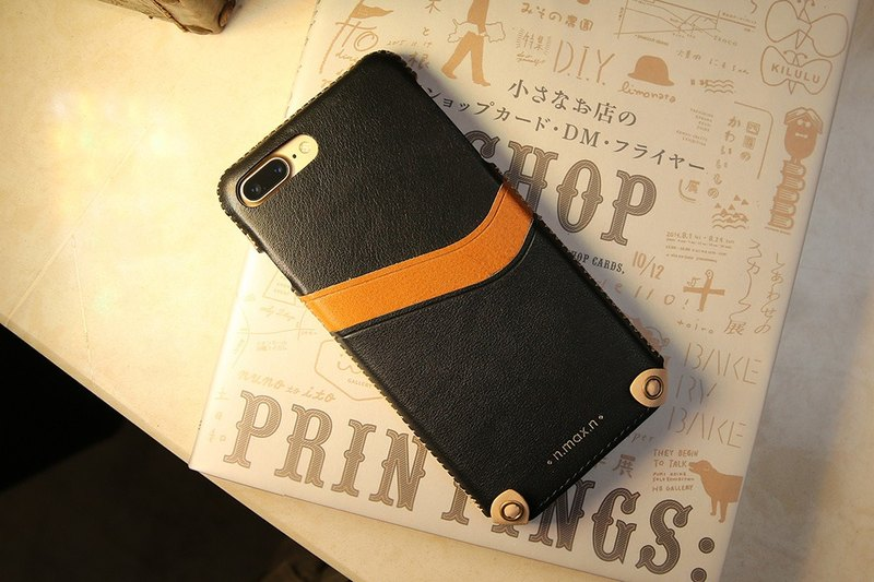 iPhone 7 PLUS / iPhone 8 PLUS  5.5 inch New Minimalist Series Leather Case - Bla