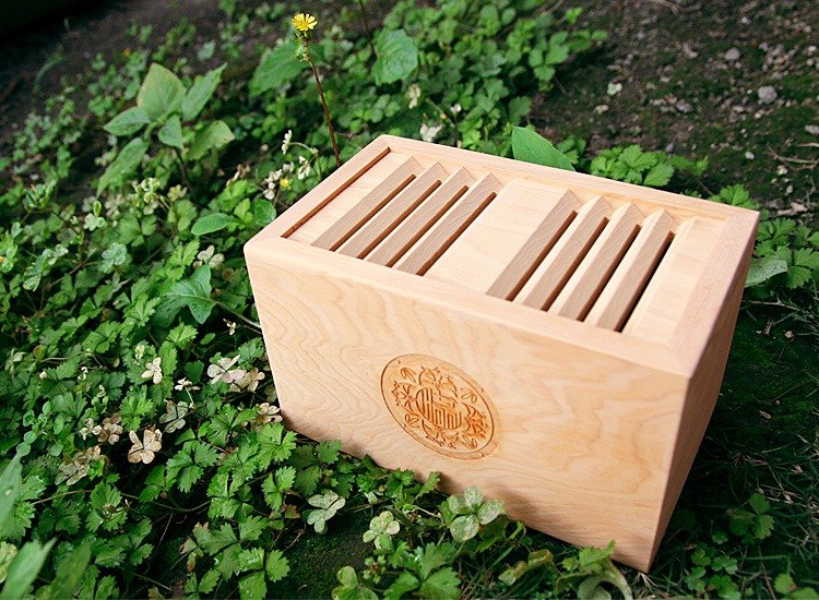 Hinoki Coin Bank - Pull door style