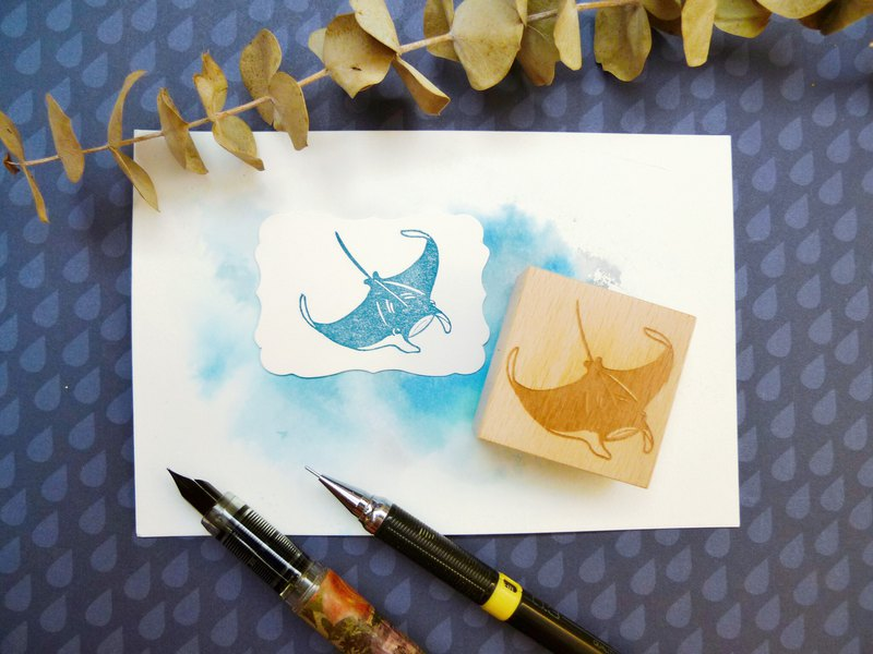 Manta Ray Rubber Stamp