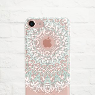 Mandala, Pastel, Clear Soft Case, iPhone Xs Max, Xr to iPhone SE/5, Samsung