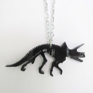 Lectra duck ▲ ⇝ Triceratops fossils (dinosaur series) ⇜ ▲ necklace / keychain / dual-use \ threw a postcard dogs and cats