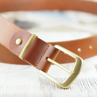 Italian vegetable tanned leather belt 40mm brown coffee red hand-sewn