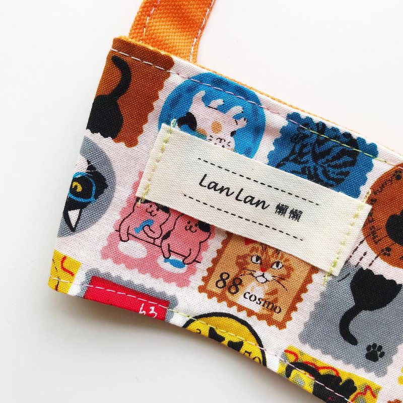Double-sided beverage bag - cat post sticker