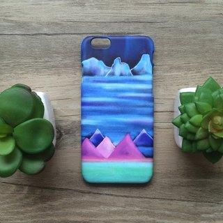 Iceberg and Mountain Pastel. Matte Case( iPhone, HTC, Samsung, Sony, LG, OPPO)