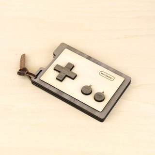 Wooden Personality Business Card Holder Card Case - Retro Video Game - Classic Red and White Machine - Video Game Handle - MUTOKOGI