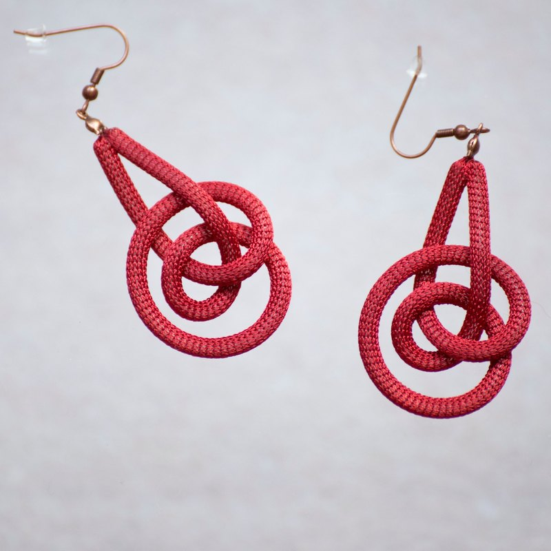 Lussli | Knitted Earring (Dark Red)