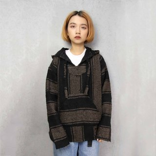 Tsubasa.Y Antique House A04 Mocha with Black Mexican Wool Hat Tee, Baja Hoodie