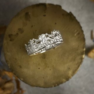 [Jinxia Lin @ sterling silver @ ring] fiber lace ring