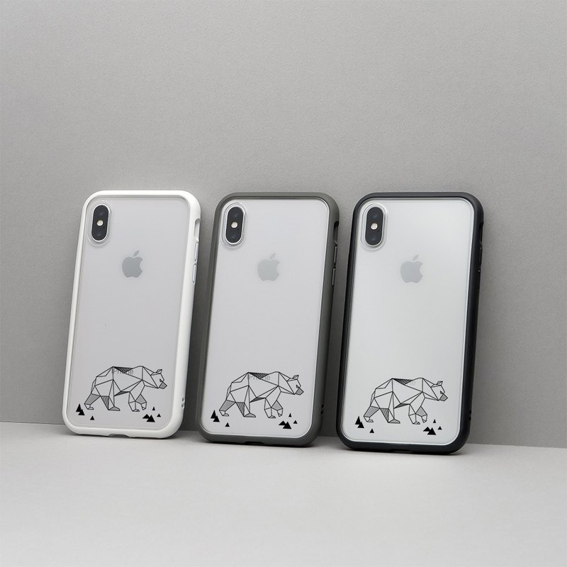 Mod NX frame back cover dual-use phone case / geometry - polar bear for iPhone series