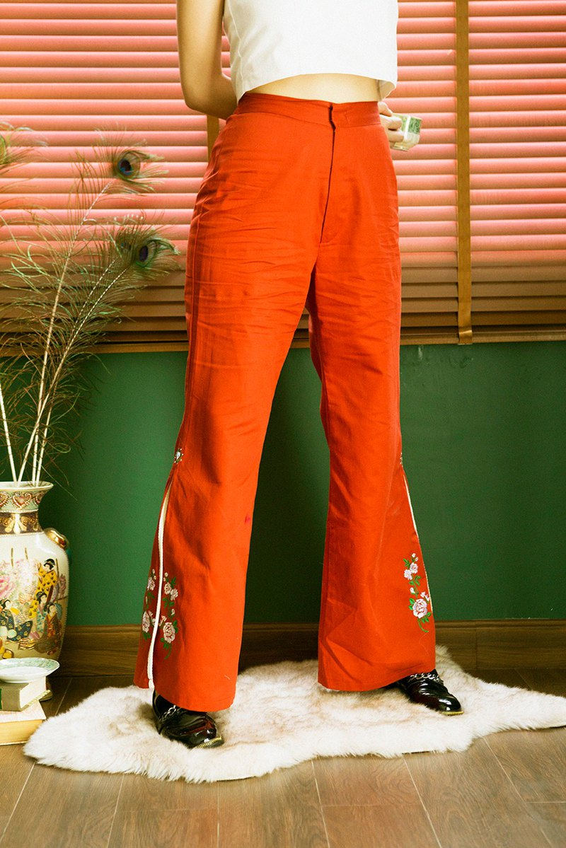 Highestjump bell leg pant (Special flower edition)