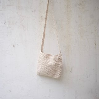 Hand-Crochet Bag l natural color cotton