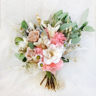 Your Western-style romantic bouquet / not withered / dry bouquet / pink / white