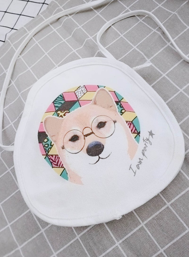 Round canvas bag - Shiba Inu series (buy to send badge or leisure card sticker)