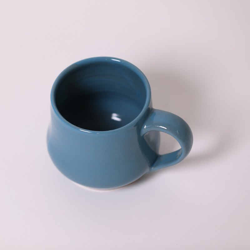 Plump mug - blue - fair trade